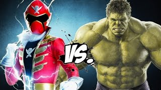 getlinkyoutube.com-The Incredible Hulk vs Red Super MegaForce (Power Ranger)