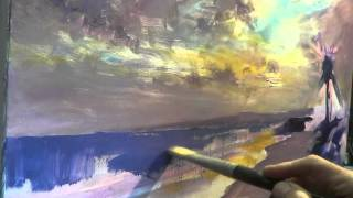 getlinkyoutube.com-Oil Painting Demo- Beach scene