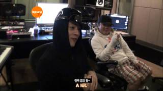 getlinkyoutube.com-G-Dragon Working/Hanging Out With Teddy & YG [HD] [ENG]