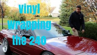 getlinkyoutube.com-Vinyl Wrapping 240SX | Roof | DIY