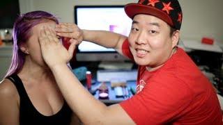 getlinkyoutube.com-Boyfriend Does My Makeup Tag Feat. David So Comedy