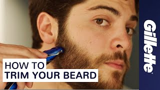 getlinkyoutube.com-How to Trim Your Beard | Gillette | Beard Grooming Tips