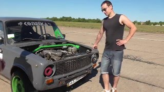 getlinkyoutube.com-Обзор ТестДрайв 1серия VAZ 2101 Корч с двигателем Alfa Romeo 3,0 V6 220 л.с.