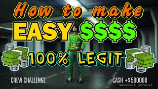 GTA 5 - HOW TO MAKE EASY $$$$ Money - Racing Solo Challanges Online