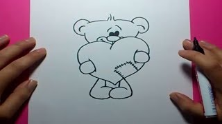getlinkyoutube.com-Como dibujar un oso de peluche paso a paso 12 | How to draw a teddy bear 12