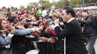 """PSY в Париже: """"Gangnam Style""""  флешмоб на площади Трокадеро"""