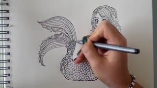 getlinkyoutube.com-How to draw a Mermaid - step by step (requested) [Part 1]