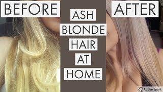 getlinkyoutube.com-ASH BLONDE HAIR AT HOME (How to fix yellow hair)