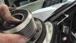 getlinkyoutube.com-How To Replace AMG Supercharger Bearing E55 SL55 CLS55 - Stop The Engine Noise !!