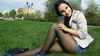 getlinkyoutube.com-Cute Serbian Women   Girls in Pantyhose, Nylons & Tights #1
