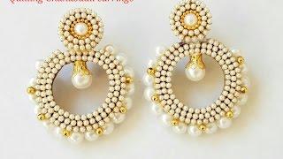getlinkyoutube.com-Quilling Chandbali earrings how to make chandbali earrings 