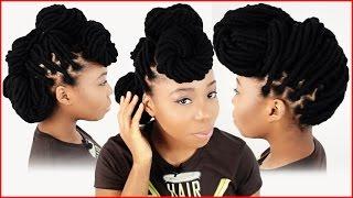 getlinkyoutube.com-3 Yarn Wrap Hairstyles | How To Style Your Yarn Wraps Tutorial Part 5 of 6