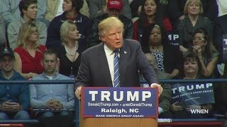 getlinkyoutube.com-Trump rips Clinton, Bush, tells Obama 'You're fired' in lively Raleigh speech