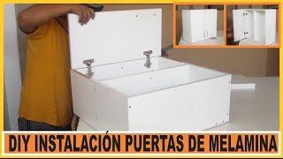 getlinkyoutube.com-Como hacer muebles /  Instalar Puertas en muebles de cocina fabricados en tableros de Melamina