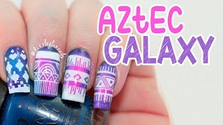 getlinkyoutube.com-Aztec Galaxy Nail Art Tutorial