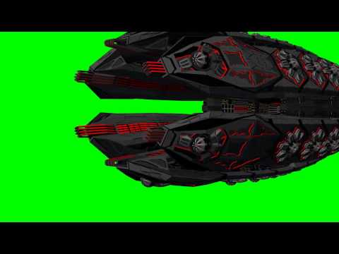 UFO Spacecraft - green screen effects