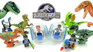 getlinkyoutube.com-Jurassic World Raptor Attack LEGO KnockOff Dino-Minifigure Set 3 Review
