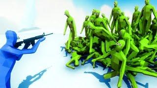 getlinkyoutube.com-TABS - ZOMBIE HORDE ATTACKS SURVIVOR!! | Totally Accurate Battle Simulator (TABS NEON)