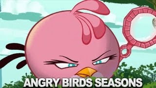 getlinkyoutube.com-Angry Birds Seasons  Meet the Pink Bird