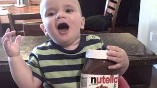 getlinkyoutube.com-THE POWER OF NUTELLA TO A BABY!