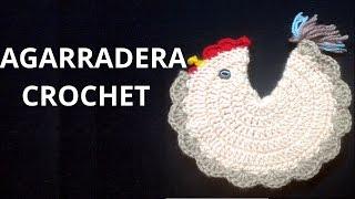 Como tejer una Agarradera Gallina en tejido crochet tutorial paso a paso.