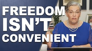 FREEDOM ISN'T CONVENIENT: It is still a choice away... by Lynette Zang width=