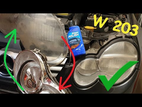 Mercedes w203 Headlights Assembly Removal / Glass Restoration C class - Cheap DIY