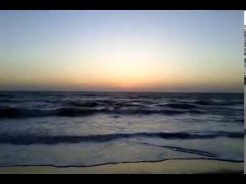 Sunset in anjuna beach Goa-music(S/A)