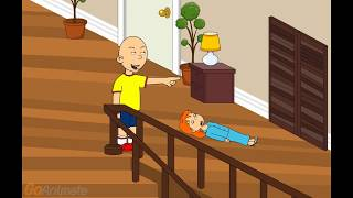 getlinkyoutube.com-Caillou pushes Rosie down the stairs/grounded
