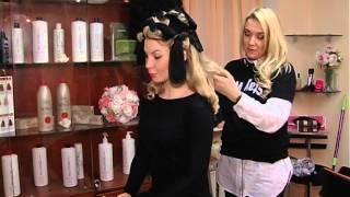 getlinkyoutube.com-Советы от Анны Еникеевой, как накрутить волосы с помощью носков