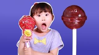 getlinkyoutube.com-도전!!! 초대형 왕사탕 리뷰 & 먹방 챌린지ㅣ달콤한 츄파츕스 롤리팝  LimeTube & Toy 라임튜브