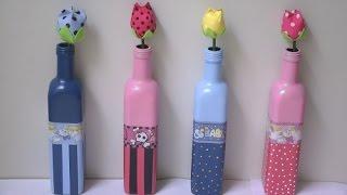 getlinkyoutube.com-Garrafa decorada para quarto infantil
