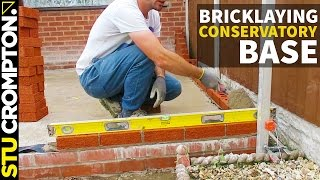 getlinkyoutube.com-how to lay brick wall, conservatory base. bricklaying tutorial