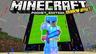 getlinkyoutube.com-RAINBOW ENCHANTED WEAPONS & ARMOR!! - Rainbow Nether Portal, Rain & MORE!! - Minecraft PE 0.12.0