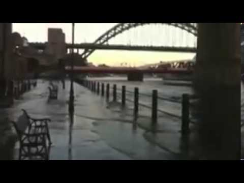 Newcastle's River Tyne bursts its banks as storms hit tidal surge