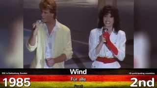 getlinkyoutube.com-Germany in Eurovision I ALL Songs 2015-1956 I ALLE deutschen Beiträge/Lieder beim ESC