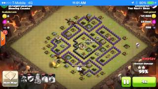 getlinkyoutube.com-Th8 Dragon Attack Strategy 3 star Epic Compilation