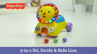 getlinkyoutube.com-3-in-1 Sit, Stride & Ride Lion | Fisher-Price
