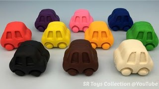 getlinkyoutube.com-Play and Learn Colours with Playdough Cars with Molds Fun for Children