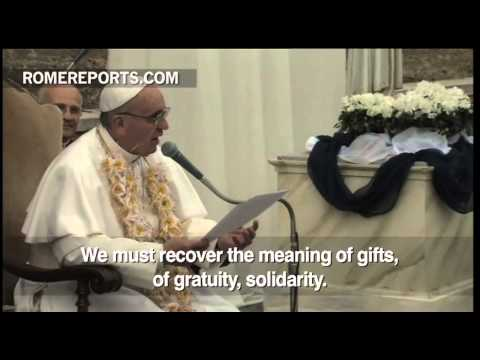 Pope Francis meets with sisters of  Mother Teresa's Order  the Missionaries of Charity