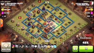 getlinkyoutube.com-Clash of Clans   3 STARS AGAINST 100% MAXED TH10 BASES WITH HOG RIDERS
