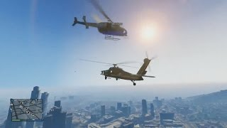 getlinkyoutube.com-Helicopter Wars,Vehicle Surfing & More! - Grand Theft Auto 5