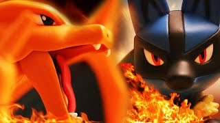 getlinkyoutube.com-Pokemon Stop Motion Animation - Charizard vs Lucario