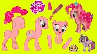getlinkyoutube.com-Create Build A 3D My Little Pony Pinkie Pie MLP Craft Kit - Cookieswirlc Video