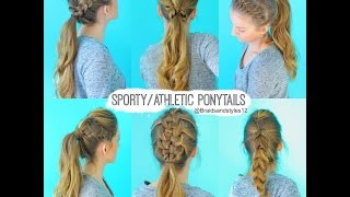 getlinkyoutube.com-6 Quick and Easy Sporty/Athletic/Workout Hairstyles | Braidsandstyles12