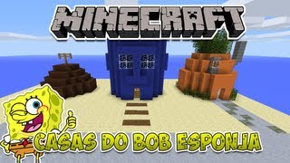 getlinkyoutube.com-Minecraft: Construindo as casas do Bob Esponja
