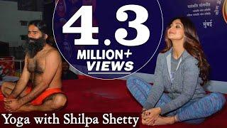 getlinkyoutube.com-Swami Ramdev and Shilpa Shetty Practising Yoga at Mumbai