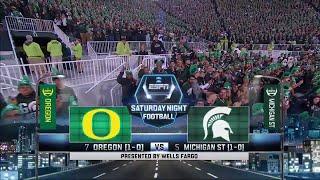 getlinkyoutube.com-NCAAF / Week 02 / 12.09.2015 / (7) Oregon Ducks @ (5) Michigan State Spartans