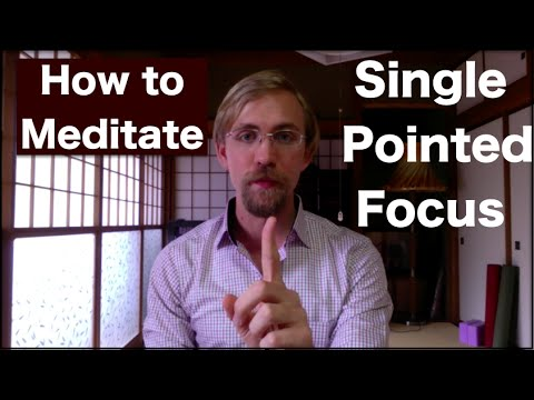 How to Meditate  - Single Pointed Focus