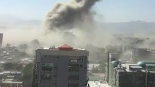 Kabul blast: Video captures moments after massive truck bomb rips through Afghan capital killing 80